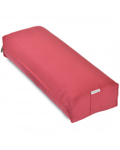 Rectangular Yoga Bolster - Medium Red